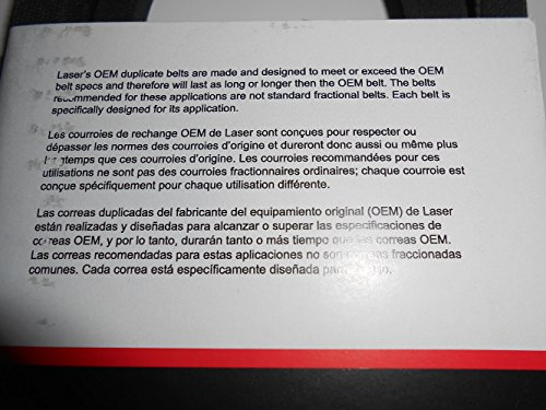OEM Duplicate Belt Replaces John Deere Belt Numbers GY20570, GX20072