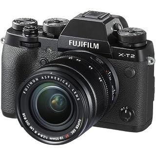 Fujifilm XT2 X-T2 Mirrorless Digital Camera 18-55mm Lens (International Version) No Warranty, Black