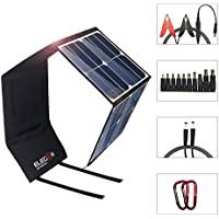 ELEGEEK 50W High Efficiency Folding Solar Panel Charger Built in icGEEK Fast Charge with USB (5V) + DC (12V) Output (50W 5V/12V)