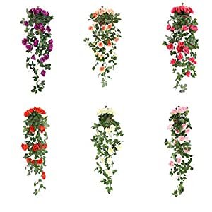 Artificial Flowers Artificial Rose Flower Rattan Green Leaf Vine Garland Home Decor 120