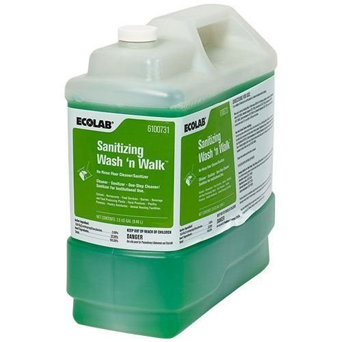 ECOLAB 6100731 Sanitizing Wash 'n Walk No-Rinse Floor Cleaner/Sanitizer - 2.5 Gallon by Ecolab (Image #1)