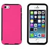 iPhone 5C Case - Heavy Duty Box Cover for iPhone 5C, Integrated Screen Protector Included (Hot Pink)