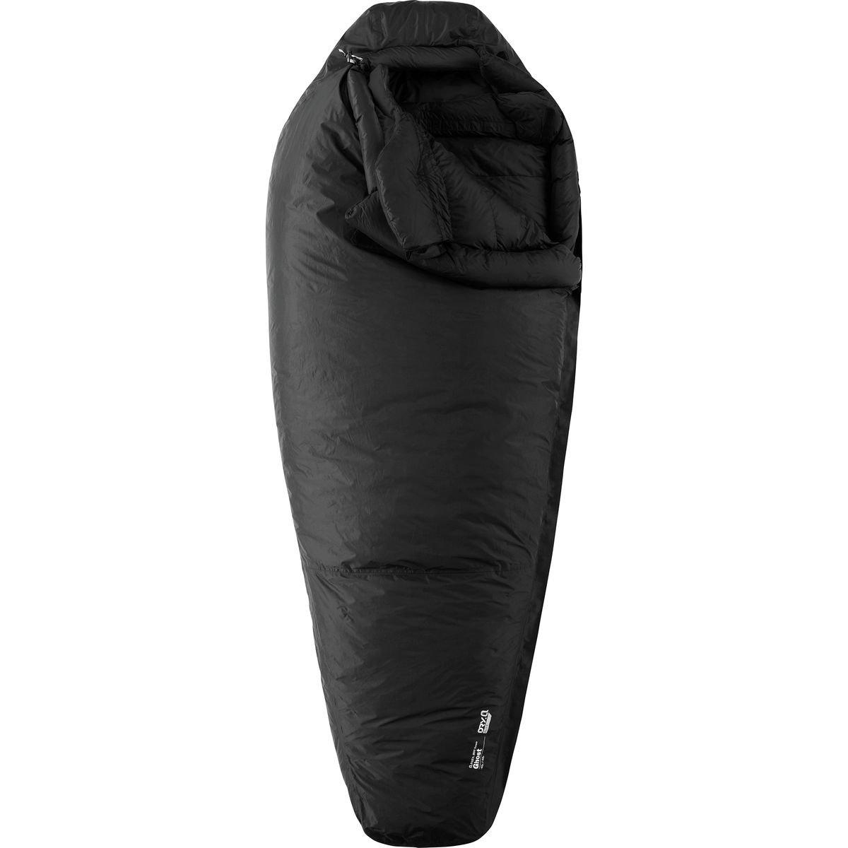 Mountain Hardwear Ghost Regular - Black / Black - 198 cm RV links - Wasserdichter insulated Daunen Expeditions-Schlafsack
