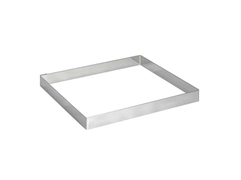 De Buyer - Juego de moldes cuadrados para tartas (acero inoxidable, 2 cm de altura) 390508