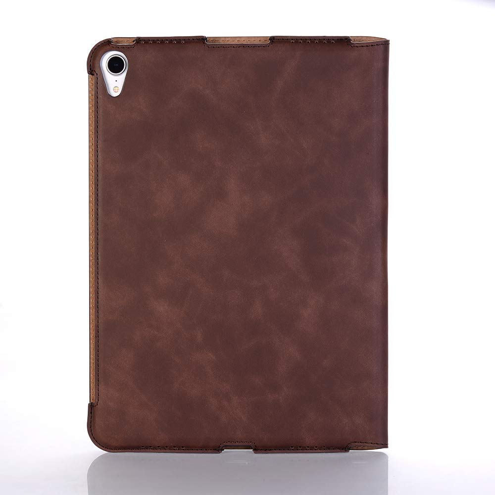 TechCode iPad Pro 11 inch Case 2018, Premium PU Leather Smart Stand Case Slim Fit Cover with Card Slots & Hand Strap(Support 2nd Gen iPad Pencil Charging) Sleeve for iPad Pro 11 inch 2018, Dark Brown by TechCode (Image #9)