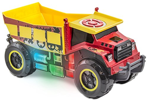 Kid Galaxy Mega Motorized iRock & iRoll Dump Truck. Toddler Light and Sound Effects Construction Toy
