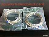Generic Stainless Steel Temperature 0 To 500 Degree Thermocouple K Ty 200mm Probe Sensors 2Meters x 2pcs