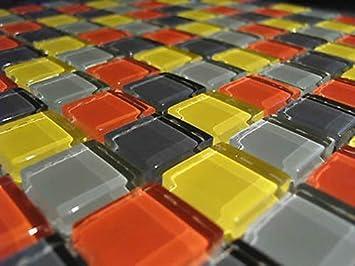 Fliesentopshop 1 Qm 11 Matten Glasmosaik Mosaik Fliesen Bunt Mix