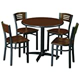 KFI Seating Round Pedestal Table with Arched X