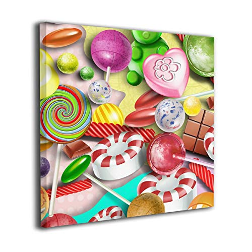 Colorful Lollipop Wall Painting Hanging Pictures None Frame Decorative Painting for Bedroom Home Decorations