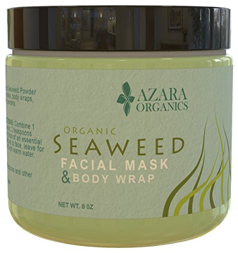 Organic Seaweed Powder (Ascophyllum Nodosum Kelp) - Age-Defying Natural Facial Mask & Body Wrap - Helps Improve Skin Complexion - Chemical-Free - Ideal For Sensitive Skin - Revitalizes & Refreshes