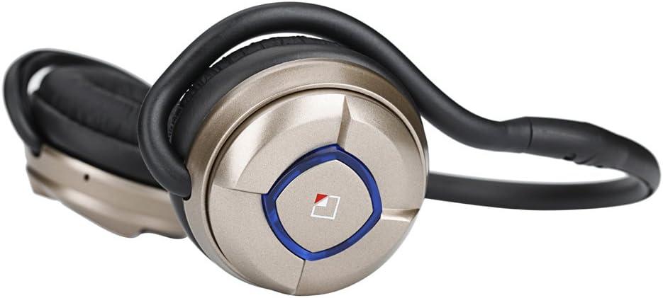 Whitelabel Musicjogger Auriculares estéreo Deportes Bluetooth para Correr Cascos Deportivos de Manos Libre, Deportes Auricular para iPhone, iPad, LG, Samsung y Otros Teléfonos Móviles Android -Oro