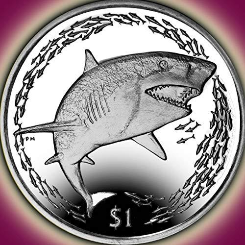 LEMON SHARK - 2016 British Virgin Islands $1 Uncirculated Cupro Nickel One Dollar Coin