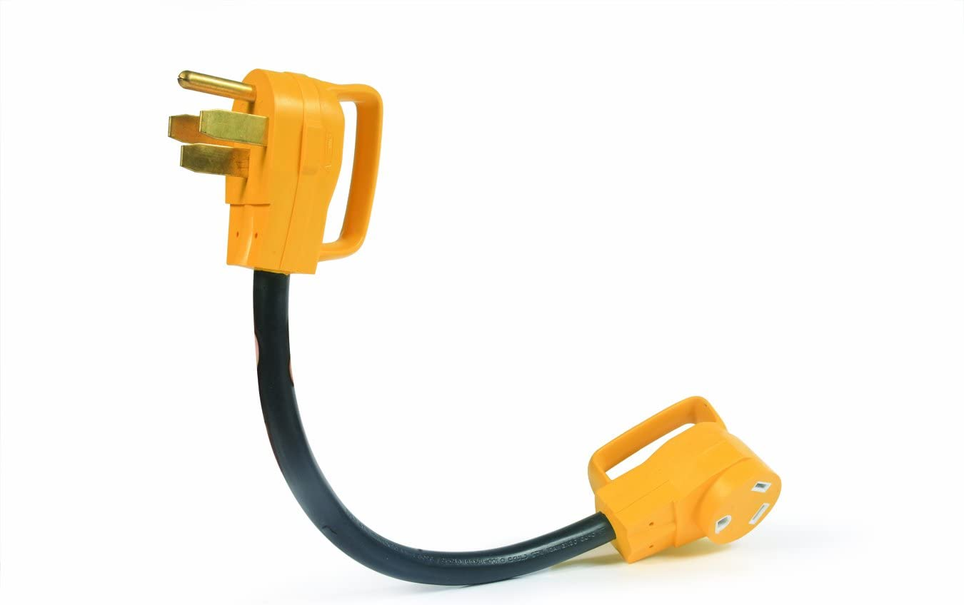 30 Male 50-Amp Female Locking End 12 PowerGrip Marine Dogbone Camco 55615 Electrical Adapter