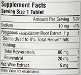 Source Naturals Resveratrol 80mg Super Nutrient Support for Heart and Healthy Aging 120 Tablets Discount