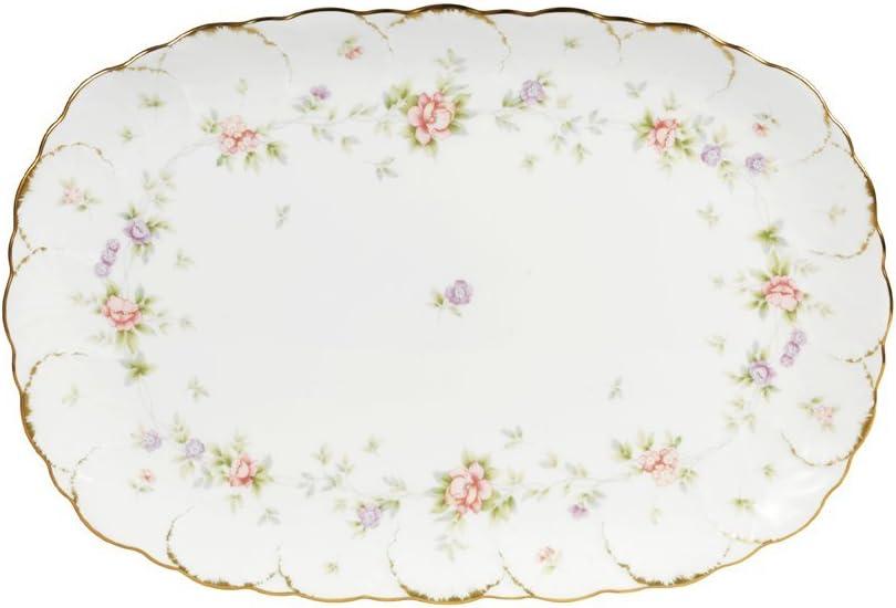 Mikasa Endearment Oval Serving Platter, White