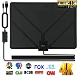 HD TV Antenna Digital,Skywire TV Antenna Amplified 150 Mile Range Support 4K 1080P, Indoor Digital HDTV Antenna with Powerful Amplifier Signal Booster – 16ft Coax Cable/Power Adapter