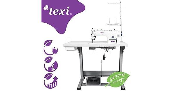 Texi - Máquina de coser Industrial - piqueuse Plate Industrial - , totalmente montada sobre mesa - Neuf.: Amazon.es: Hogar