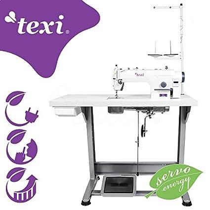 Texi – Máquina de coser Industrial – piqueuse Plate Industrial – , totalmente montada sobre mesa