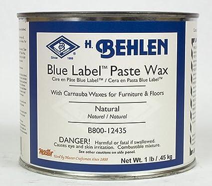 Behlen Blue Label Paste Wax Natural