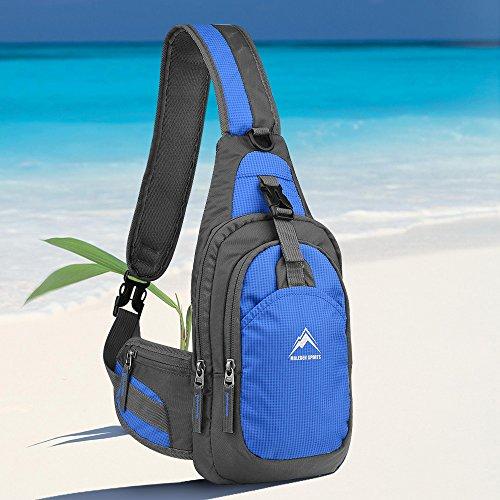 Shoulder Bag, MALEDEN Lightweight Outdoor Sling Backpack Unbalance Crossbody Bag for Girls Boys Women Men