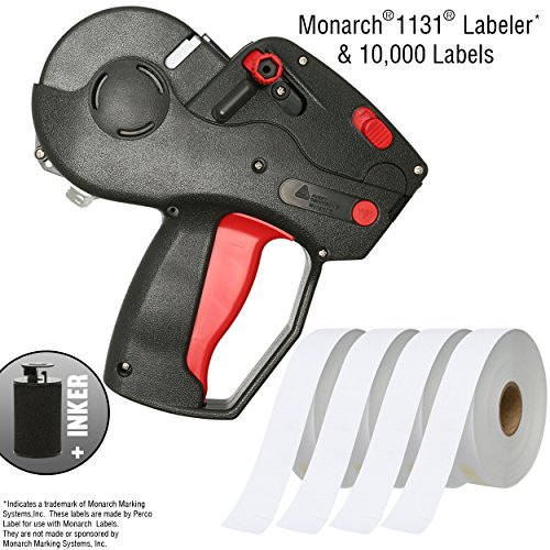 Monarch 1131 Pricing Gun with Labels Starter Kit: Includes Price Gun, 10,000 White Pricing Labels and Preloaded Inker