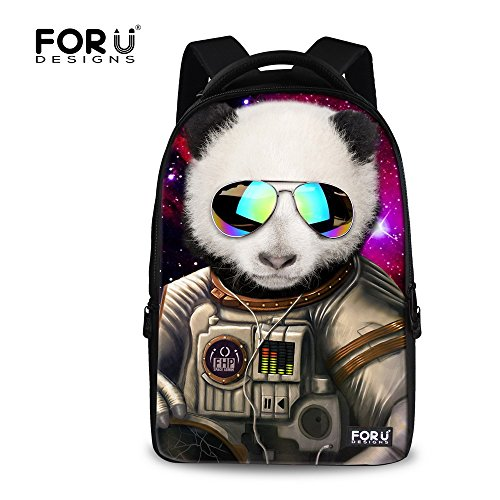 FOR U DESIGNS Casual Personalized Outdoor Panda Backpack for Men and Women