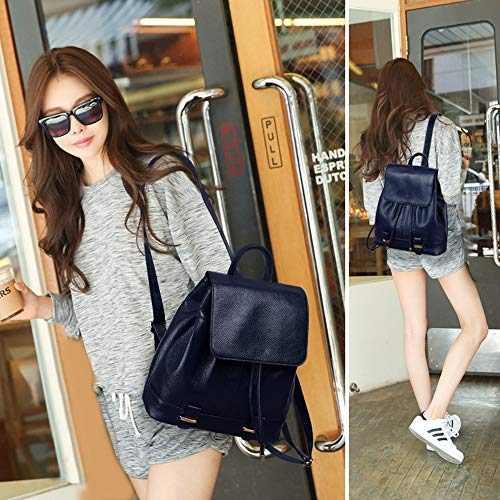 Borsa Femminile Coreana Primo Dark Selvaggio Donna In Del Morbida Tracolla Moda Strato Blue Zaino Pelle Casual Versione A fqAIpwrf