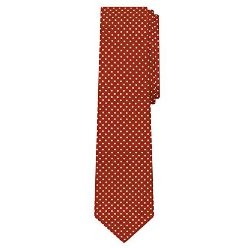 nice Jacob Alexander Polka Dot Print Boys Regular Polka Dotted Tie - Dark Red big discount
