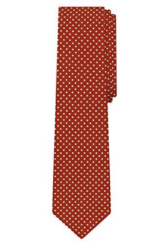 Jacob Alexander Polka Dot Print Men's Reg Polka Dotted Tie - Rust (Accessories Rust Colored)