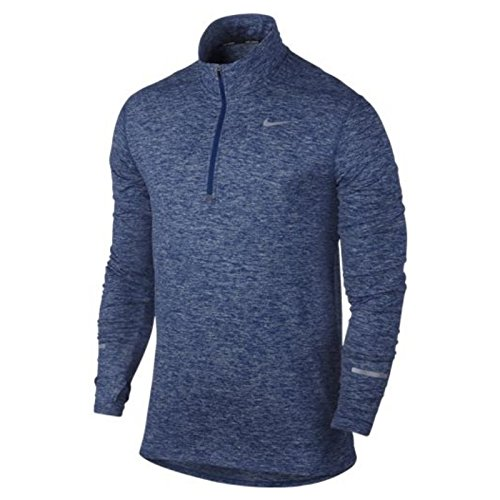 Nike Men's Dri-Fit Element Half Zip - Medium - Deep Royal Blue/Heather/Deep Royal Blue