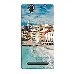 Cover It Up - Beach Town Xperia C3 Hard Case