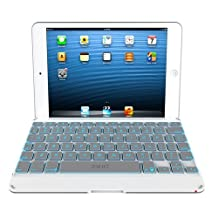 ZAGG Cover Case with Backlit Bluetooth Keyboard for Apple iPad mini-White (ZKMHCWHLIT103)