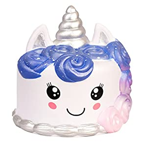Jumbo Premium Squishies | Kawaii Slow Rising Squishy | Super Soft Sensory/Stress Relief Toy | ~ Unicorn Galaxy Cake