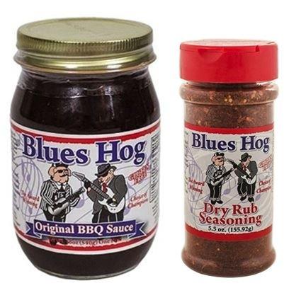 Blues Hog Sauce Barbeque Original, 16 oz & Dry Rub 5.5 oz (Pack of ()