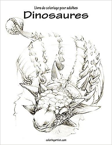 Coloriage Dinosaure Adulte.Livre De Coloriage Pour Adultes Dinosaures 1 Amazon Fr Nick Snels