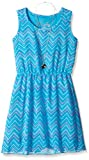 Dreamstar Dream Star Girls' Chevron Print Chiffon Lined Blouson Dress With Necklace