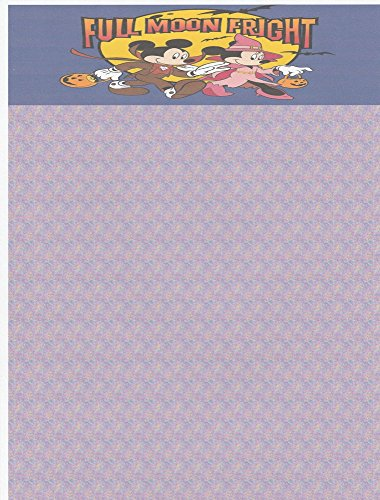Halloween Mickey & Minnie Stationery Printer Paper 26 Sheets -