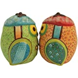 Westland Giftware Life's Little Journey Life is a Dance Owls 2-3/4-Inch Magnetic Salt and Pepper Shakers