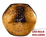 Ikea Table Lamp Base LED (Bulb Included) 7' Glass Gold Knubbig