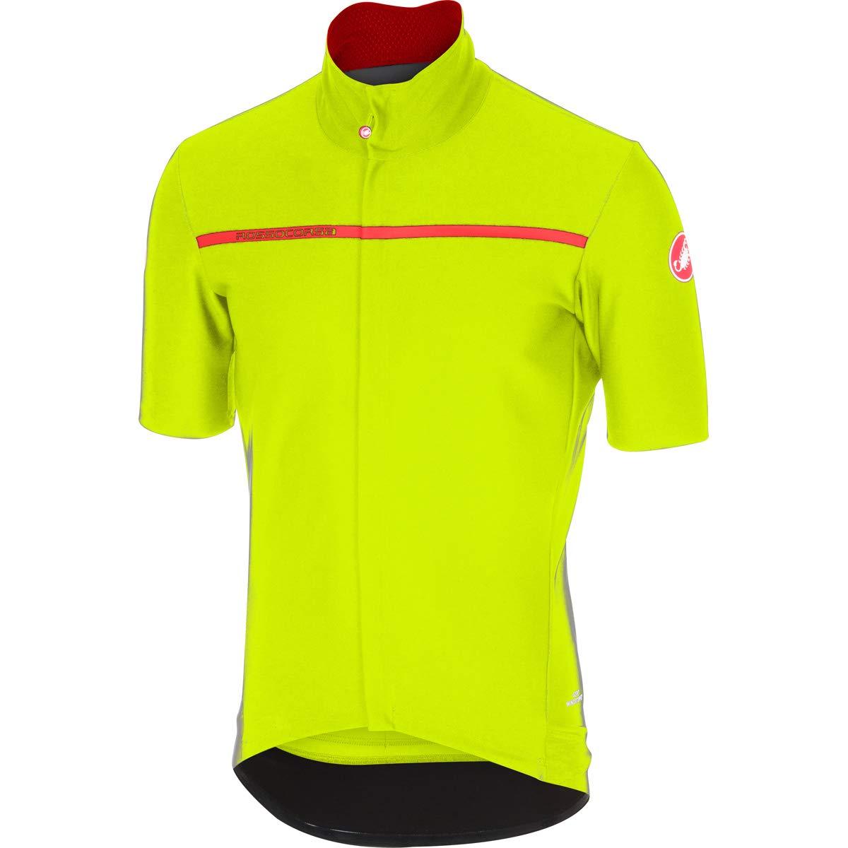 Castelli メンズ Gabba 3 半袖サイクリングジャケット - B17084 B01MSF31ZM Large|イエロー(Yellow Fluo) イエロー(Yellow Fluo) Large