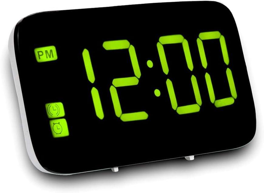 Fonction Snooze Aliment/é par Batterie Veilleuse Affichage de la Date R/étro-/éclairage BRISEZZ R/éveil /électronique,R/éveil Num/érique Matin avec Grand /écran LCD 12 // 26h