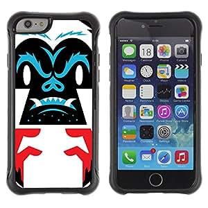 ZAKO Cases / Apple Iphone 6 / Abstract Gorilla / Robusto Prueba de choques Caso Billetera cubierta Shell Armor Funda Case Cover Slim Armor