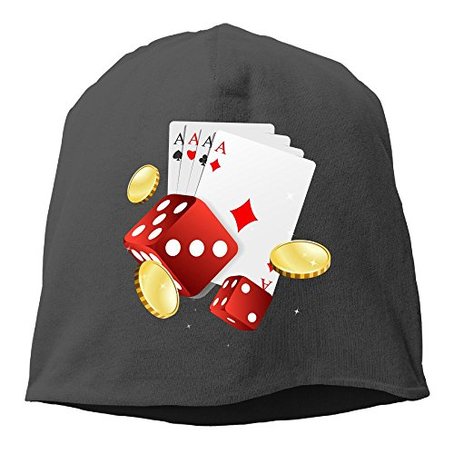 Band Dice Black (Fashion Solid Color Art Poker Dice Coin Headband for Unisex Black One Size)