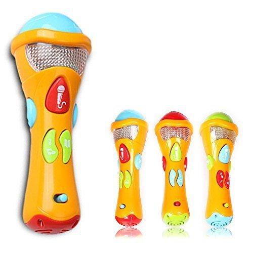Binnan Jouets de Microphones pour Enfants, Bébé Sing Actualiser Microphone,(Enregistrement, Transformer Acoustique, Chansons et éclairage)