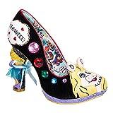 Irregular Choice X Muppets 'Super Couple', Miss Piggy heel pump, black, 37