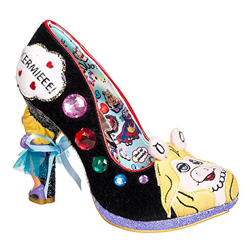 Irregular Choice X Muppets 'Super Couple', Miss Piggy heel pump, black, 37 by Irregular Choice