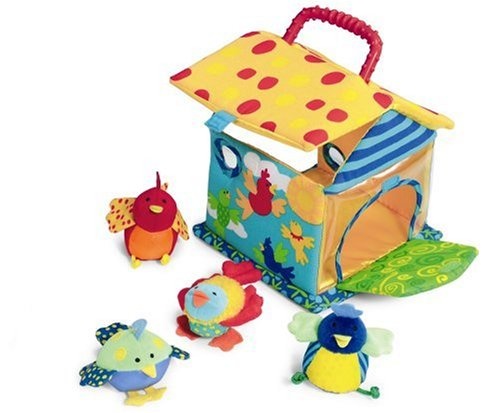 Manhattan Toy Put and Peek Birdhouse Soft Activity Toy