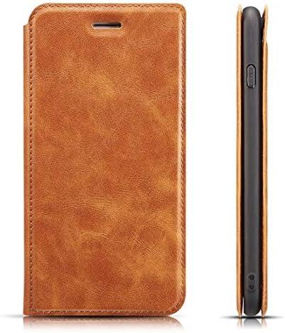 あなたの携帯電話を保護する Galaxy Note 9用のレトロシンプルな超薄型磁気水平フリップレザーケース、ホルダー&カードス