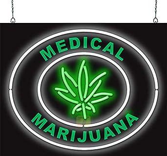 Medical marihuana neón Sign: Amazon.es: Amazon.es